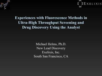 Experiences with Fluorescence Methods in Ultra-High Throughput ...