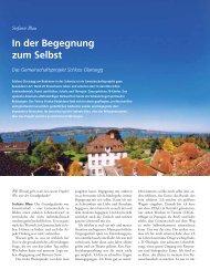 In der Begegnung zum Selbst - Schloss Glarisegg