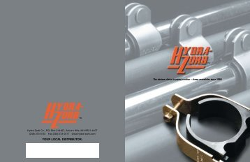 Hydra-Zorb Catalog