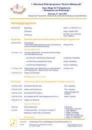 Vortragsprogramm - Früh- und Risikogeborene Kinder Rheinland ...