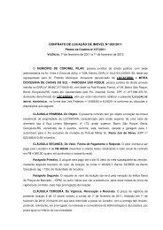 CONTRATO DE LOCAÇÃO DE IMÓVEL N° 005/2011 - Portal Público
