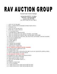 General Goods Auction Catalogue Auction Date 05/07/12 @6:30pm ...