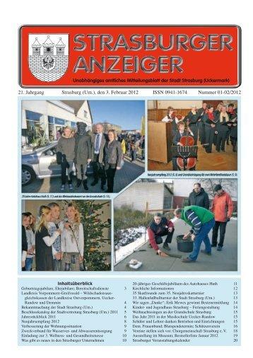 21. Jahrgang Strasburg (Um.), den 3. Februar 2012 ... - Schibri-Verlag