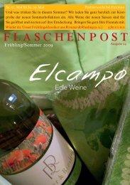 Flaschenpost Frühjahr 2009 - Elcampo