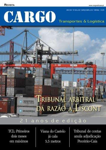Tribunal arbiTral dá razão à lisconT - Cargo