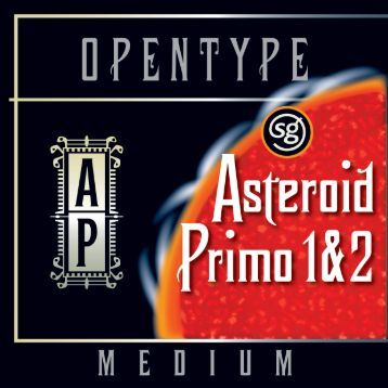 Asteroid Primo Md SG OpenType - MyFonts