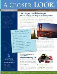 A Closer LOOk - Mayfair Diagnostics