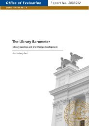 The Library Barometer - Lunds universitet