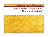 Lessons from the disasters in Japan