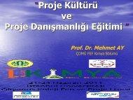"""""""Proje Kültürü ve Proje DanıĢmanlığı Eğitimi """""""""""