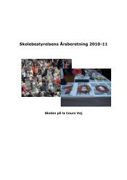 Årsberetning 2011 - Skolen på la Cours Vej