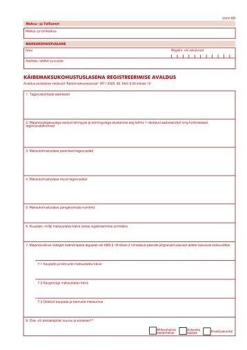 vorm KR.ai - Maksu- ja Tolliamet