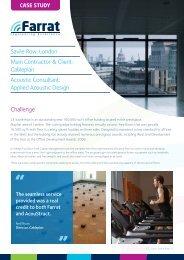 Challenge Savile Row, London Main Contractor ... - Farrat Isolevel