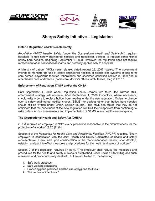 Sharps Safety Initiative – Legislation - Safety Syringes, Inc