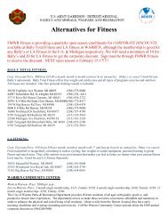 Alternatives for Fitness - Morale, Welfare & Recreation Home Page
