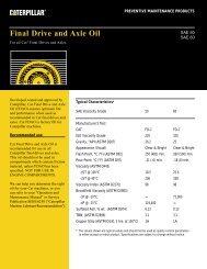 Final Drive and Axle Oil - Toromont CAT