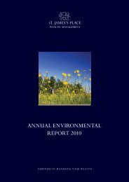 ANNUAL ENVIRONMENTAL REPORT 2010 - St James's Place