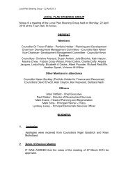 Notes from the Steering Group meeting held on 22 April 2013