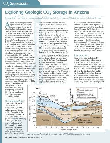 Exploring Geologic CO2 Storage in Arizona - Southwest Hydrology