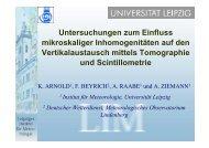 Untersuchungen zum Einfluss mikroskaliger Inhomogenitäten auf ...