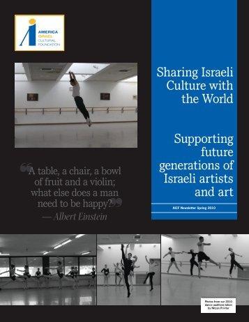 2010 Spring Newsletter - America-Israel Cultural Foundation