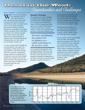 Desal in the West - Southwest Hydrology