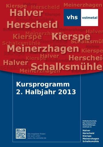 Programmheft 2. Halbjahr 2013 als PDF zum Download