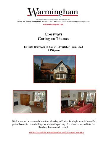 Crossways Goring on Thames - Warmingham