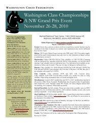 WA Class Blitz Championship - Northwest Chess!
