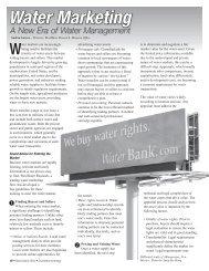 Water Marketing - Southwest Hydrology