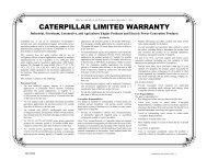 Caterpillar Limited Warranty - Industrial, Petroleum ... - Toromont CAT