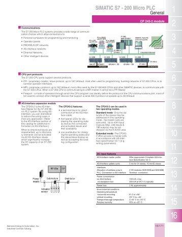 SIMATIC S7 - 200 Micro PLC - Siemens