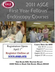 2005 ASGE First Year Fellows' Endoscopy Courses