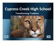 Cypress Creek High School - Texas Center for District & School ...