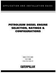 Petroleum Diesel Engine Selection, Ratings ... - Toromont CAT