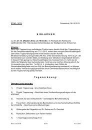 Protokoll der 392. Gemeinderatssitzung am 14. Oktober 2014