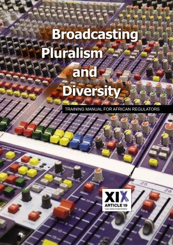 Broadcasting Pluralism and Diversity - Article 19