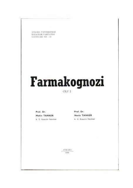 1bfa3cb01cc CİLT 2 - Ankara Üniversitesi Kitaplar Veritabanı