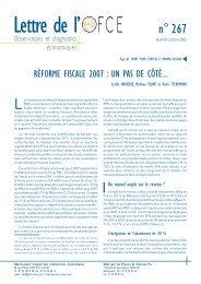 Réforme fiscale 2007 - OFCE - Sciences Po