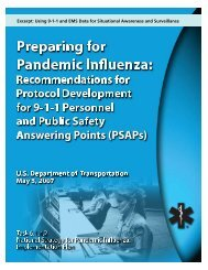 Preparing for Pandemic Influenza: Recommendations ... - First Watch