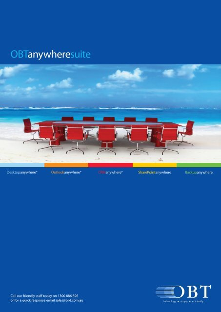 Introduction to the OBT Anywhere Suite - OBTs