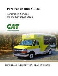 Paratransit Ride Guide - Chatham Area Transit