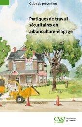 Pratiques de travail sécuritaires en arboriculture-élagage - CSST
