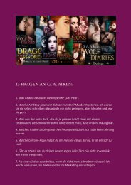 13 Fragen an G. A. Aiken: - Piper-Fantasy.de