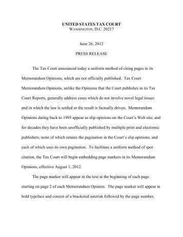Rule 23 - U.S. Tax Court