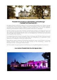 Preisliste Hochzeiten & Private Events 2012-1 - Schloss Gartrop