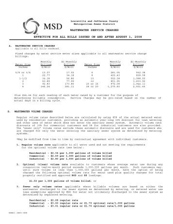 effective for all bills issued on and after august 1, 2008 ... - MSD