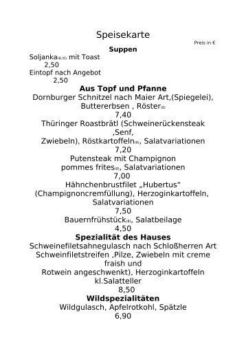 Suppen - Schlosskrug Dornburg