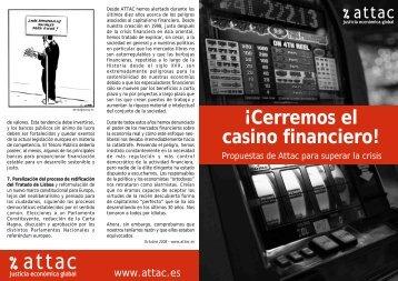 Â¡Cerremos el casino financiero! Propuestas para superar la crisis