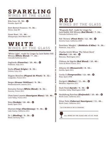 sparkling white red - Linger